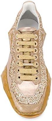 JIMMY CHOO Luxury Fashion Damen DIAMONDFXBZGOLDIEMIX Gold Glitzer Sneakers | Frühling Sommer 20