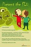 Exam Room Prevent the Flu Poster 12x18