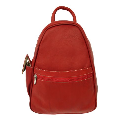 Piel Leather Tri-Shaped Sling Bag, Red, One Size by Piel Leather