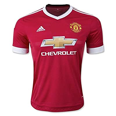 adidas Men's Manchester United 15/16 Home Risk Red/Black/White Jersey