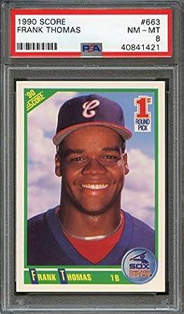 Amazoncom 1990 Score 663 Frank Thomas Chicago White Sox