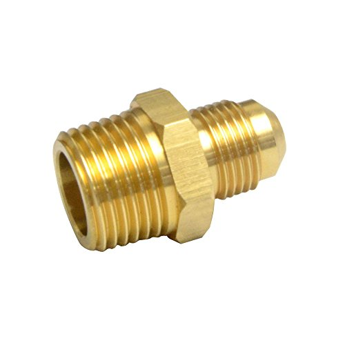 Flare Male Union - 2 PCS Compression Metals Brass Couples Tube Fitting, Half-Union Gas Adapter, 3/8