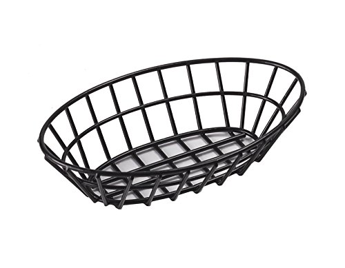 G.E.T. Enterprises 4-34412 9.75'' x 6.25'' Oval Basket, 2.25'' Clipper Mill, Iron POLYETHYLENE Coated