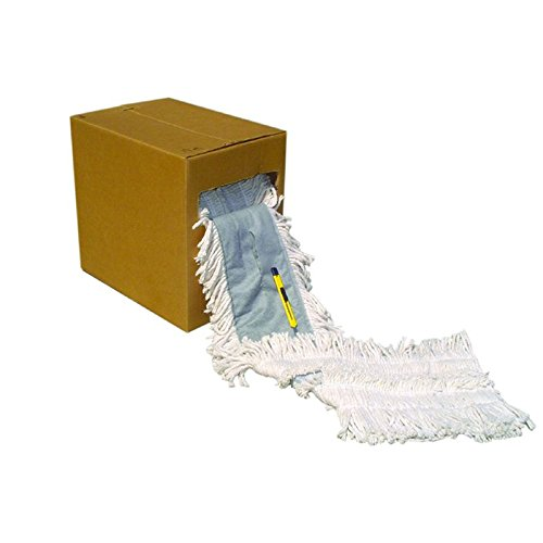 Nassco Pro Series Economy Dust Mop, 5'' x 40' , White, 1 Roll/Cs by Nassco