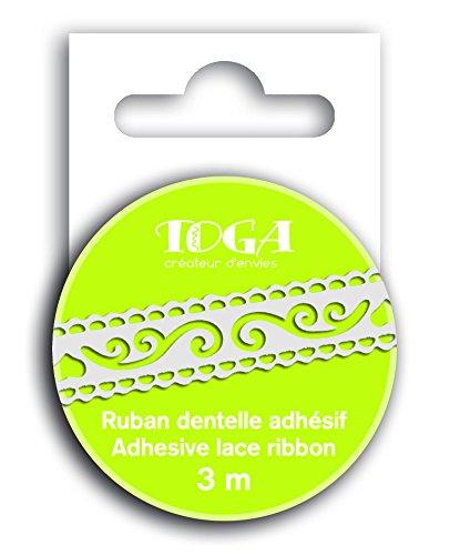 Toga mt136 pizzo nastro adesivo Arabeschi Washi Tape Bianco 1.5 X 300 X 0.1 cm