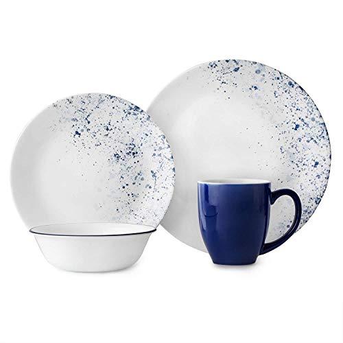 Corelle 3326 Dinner Set, Blue, White