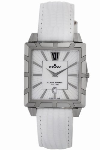 Edox Women's 26022 3 NAIN Classe Royale Rectangular Date Watch