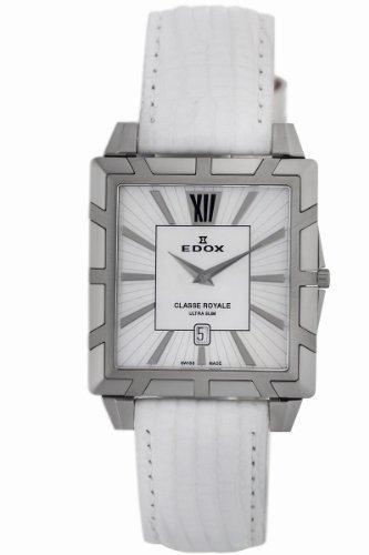 Edox Women's 26022 3 NAIN Classe Royale Rectangular Date Watch