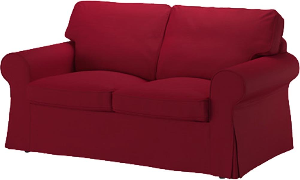 The Wine Red Cotton Ektorp Loveseat Cover Replacement Is Custom Made For Ikea Ektorp Loveseat Sofa Cover, A Ektorp Slipcover Replacement.