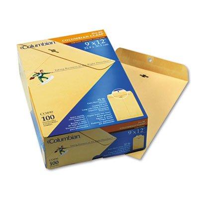 Columbian CO490 9x12-Inch Clasp Manila Envelopes, 100 Count