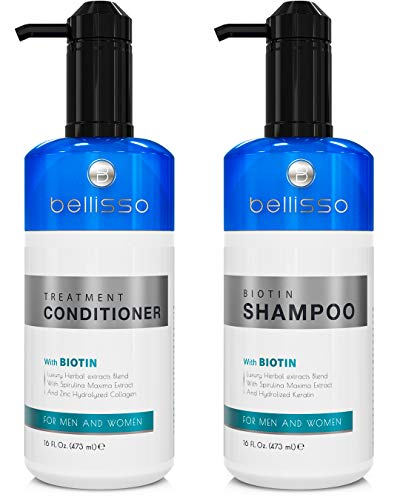 Biotin Shampoo and Conditioner for Hair Growth | Thickening Anti Hair Loss Shampoo Treatment | Regrowth Shampoo  Conditioner for Oily  Color Treated Hair
