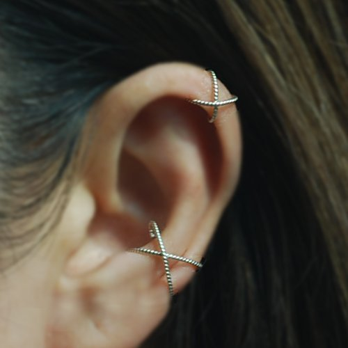 20gauge Sterling Silver Fake Conch Piercing Ear Cuff Sterling