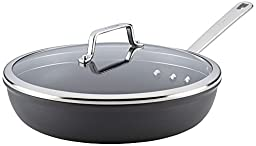 Anolon Authority 81014 Covered Deep Skillet, 12 1/2-Inch, Gray