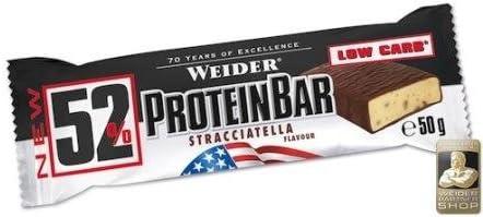 Weider - 52% Protein Riegel 1 x 50g Stracciatella (12er Pack)