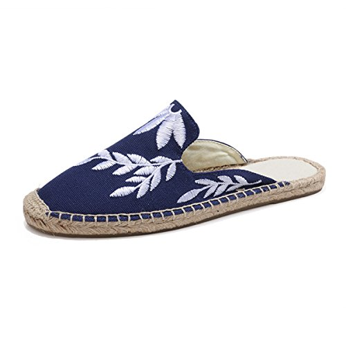 Canvas Shoes On LaRosa Slip Loafer Bluemule Sneaker Espadrille Women's Flat Casual Fashion gqz4pZg