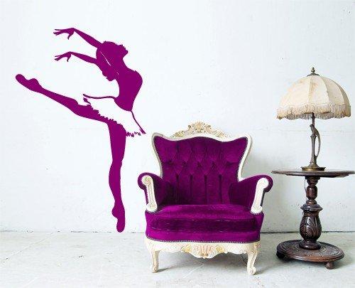 """Adesivo murale wall art """"ballerina sulle punte""""   misure 64x100 cm ..."""