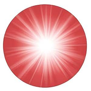alfombrilla de ratón luz de fondo rojo y blanco mágico abstracto. Vector - ronda - 20cm