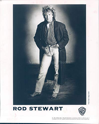 Vintage Photos 1991 Photo Rod Stewart Recording Artist Summer Tour Hollywood Bowl CA Man ()