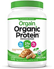 Orgain Organic Plant Based Protein Powder, Butter