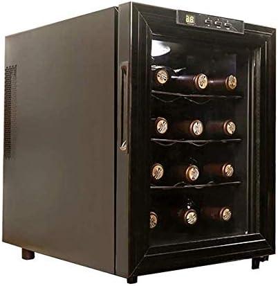 Vitrina electrónica semiconductora para vinos, pequeña Nevera silenciosa para vinos tintos y Blancos con Puerta de Cristal y Pantalla Digital de Temperatura