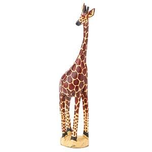 amazon com kenyan south africa wooden giraffe figurine