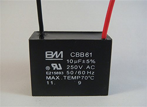 Fan Capacitor Cbb61 10uf 250v 2 Wire Buy Online In Uae