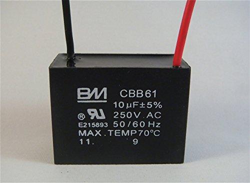 Top capacitor cbb61 10uf