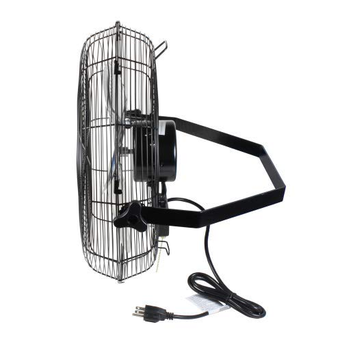Comfort Zone CZHVW18 High-Velocity Industrial 3-Speed 18'' Wall-Mount Fan with Aluminum Blades and Adjustable Tilt