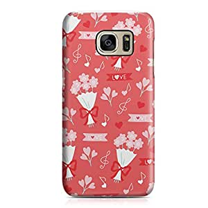 Samsung S7 Case Cute Heart Pattern For Valentines Day And Loved Ones, Great For Girls Sleek Finish Clear Edge Samsung S7 Cover Wrap Around 34