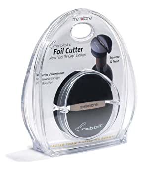 Metrokane Rabbit Wine Bottle Foil Cutter (Black)