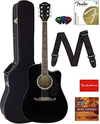 fender acoustic guitar small - 4