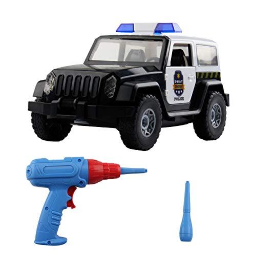 UMFun Police Car - Build Yourself DIY Racecar Assembly Kit Toy Racing Car]()