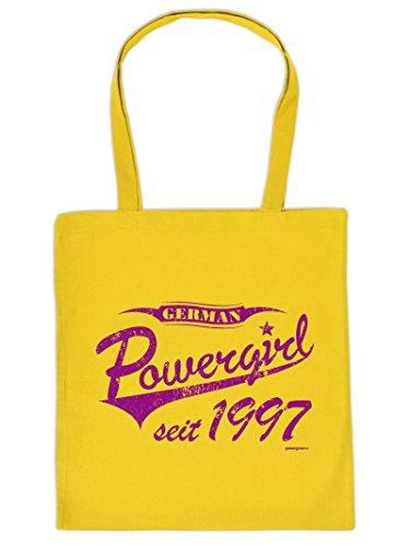 Powergirl seit 1997 -Tote Bag Henkeltasche Beutel mit Aufdruck. Tragetasche, Must-have, Stofftasche. Geschenk