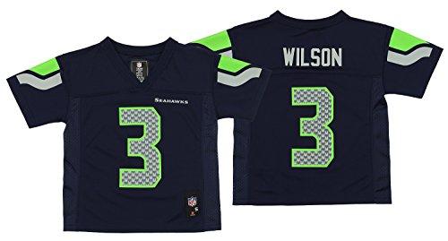 Outerstuff NFL Seattle Seahawks Russell Wilson Boys 4-7 Mid-Tier Jersey
