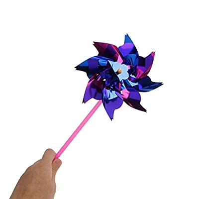 Horoshop 10Pcs Small Windmill Pinwheel Wind Spinner Garden Lawn Party Decor Kids Toy: Garden & Outdoor
