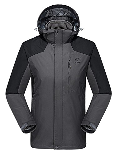 Dilize Sports Jacket Hooded Black Fleece Piece Liner Grey Wind Men's 2 Coat rwqtrH