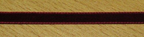 3 m Samtband 7 mm bordeaux