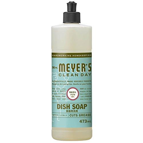 ミセスマイヤーズ クリーンデイ(Mrs.Meyers Clean Day) 食器用洗剤 バジルの香り 473mL