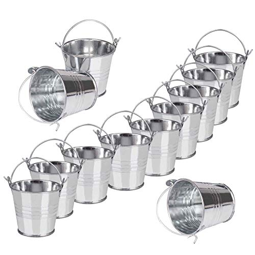 Mini Metal Buckets Tin Pails Galvanized Tinplate Container 3