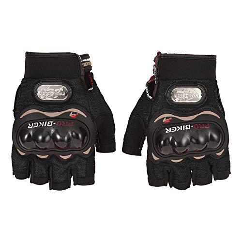 Liobaba Motorcycle Gloves Outdoor Sports Half Finger Short Riding Biking Glove Working Gloves Men Women
