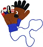 Kidorable Little Boys' Pirate Gloves, Brown/Pirate Blue, Small