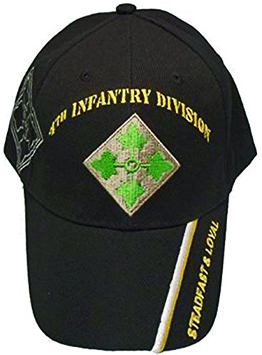 U.S. Army Division and Brigade Baseball Caps Quality Embroidered Hats (4th Infantry Division Steadfast and Loyal)