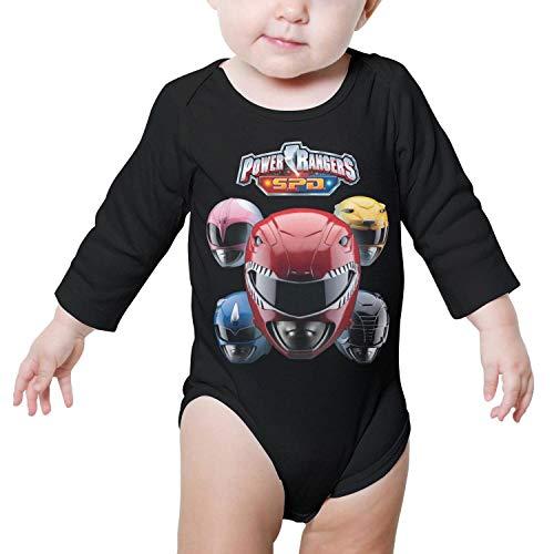 GAKIIER Baby Onesies Black Power-Rangers-SPD- Cotton Outfits Long Sleeve -