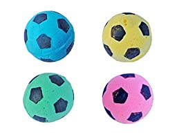 ConversancyFoam/Sponge Soccer Ball Cat Toy Best Interactive Cat Toys Most Popular Independent Pet Kitten Cat Exrecise Toy balls for Real Cats Kittens, Soft/Bouncy/Noise Free, 12 Pack.
