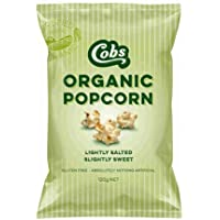 Cobs Organic Lightly Salted and Slightly Sweet Gourmet Popcorn, 120 g