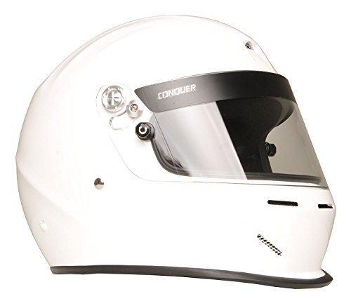 Conquer Snell SA2015 Aerodynamic Vented Full Face Auto Racing Helmet ()