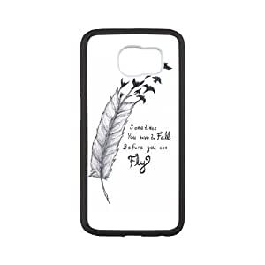 Morimo Custom Protective Phone Case for SamSung Galaxy S6,Sometimes?You?Gotta?Fall?Before?You?Fly Laster Technology Nice Quality Plastic and TPU Cover by ruishername