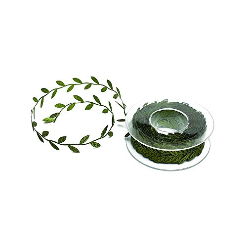 Buy Cheap Dr.Pink Dark Green DIY Leaf Ribbon,Olive Leaves,30 mm×16.4 Yard