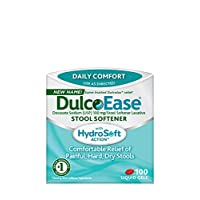 DulcoEase Stool Softener Liquid Gels, 100 Count