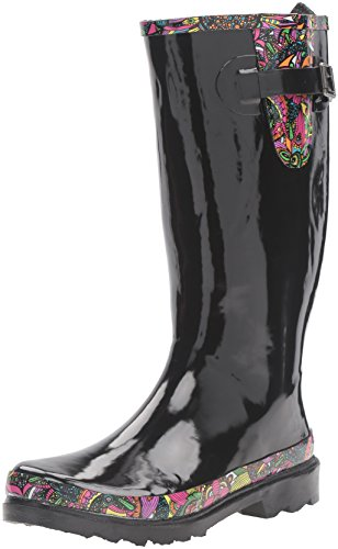 The Sak Women's Rhythm Rain Shoe, Black Rainbow Spirit Desert, 8 M US
